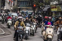 Hanoi trafik Arkivbilder