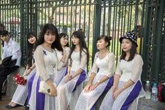 Hanoi University students graduation day Royalty Free Stock Photography