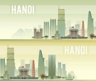 hanoi Vector illustratie Royalty-vrije Stock Afbeeldingen