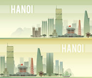 Hanoi. Vector illustration. Royalty Free Stock Images