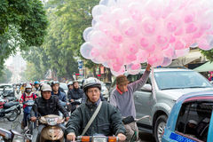 Hanoi-Verkehr Lizenzfreie Stockbilder