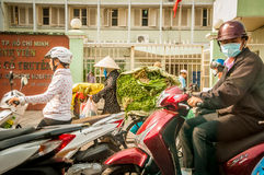 Hanoi Vietam March 3 2014 Life in Vietnam - Street by moto bike is an essential part of life in Vietnam, traffic of. Asian city in rush hour, of people in Royalty Free Stock Images