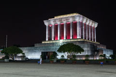 HANOI, VIETNAM - CIRCA AUGUST 2015: Ho Chi Minh mausoleum in Hanoi, Vietnam by  night Royalty Free Stock Photo