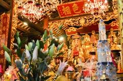 Hanoi, Vietnam - Feb 20, 2107 : Small shrine devoted to Buddha stock images