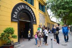 Hanoi, Vietnam - Feb 20, 2017 : Tourist visiting The Maison Cen stock photos