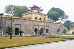 Hanoi, Vietnam - Jan 21 2015: Central Sector of the Imperial Cit Royalty Free Stock Photo