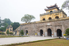 Hanoi, Vietnam - Jan 21 2015: Central Sector of the Imperial Cit Royalty Free Stock Photos