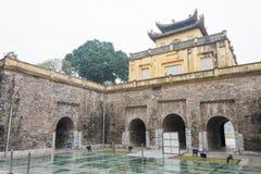 Hanoi Vietnam - Januari 21 2015: Central sektor av den imperialistiska Citen royaltyfri foto