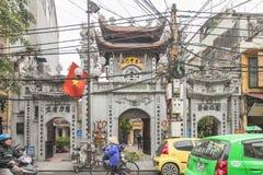 Hanoi, Vietnam 26 Januari 2016: De Tempel van Literatuur in Han Royalty-vrije Stock Foto