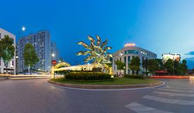 Hanoi, Vietnam - July 19, 2016: Panorama of entrance to Vincom Mega Mall Times City, the largest complex in the South of Hanoi dev. Eloped by Vingroup. Hanoi Stock Photos