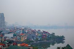 Hanoi Vietnam. On the lake in the morning royalty free stock photography