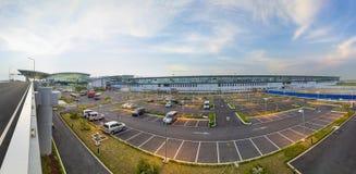 Hanoi, Vietnam - 12 luglio 2015: Il punto di vista di Noi Bai International Airport, il più grande aeroporto di panorama nel Viet Fotografia Stock Libera da Diritti