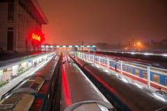 Hanoi, Vietnam Mar 13:: Hanoi raiway station at Hanoi city on Ma Stock Images