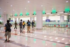 Hanoi Vietnam Mars 12:: terminaler på den Noibai internationalen Airpor Fotografering för Bildbyråer