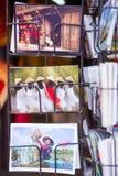 Hanoi, Vietnam 12 marzo:: Cartolina del negozio all'una pagoda o della colonna Fotografia Stock Libera da Diritti