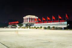 HANOI, VIETNAM - MAY 22, 2017: Ba Dình Square and Ho Chi Minh Ma royalty free stock photo