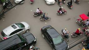HANOI,VIETNAM - MAY 2014: crazy motorbike traffics. Day time stock footage