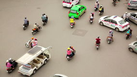 HANOI,VIETNAM - MAY 2014: crazy motorbike traffics timelapse. Day time stock video footage