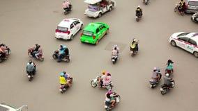 HANOI,VIETNAM - MAY 2014: crazy motorbike traffics timelapse. Day time stock video