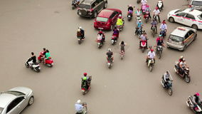 HANOI,VIETNAM - MAY 2014: crazy motorbike traffics timelapse. Day time stock footage