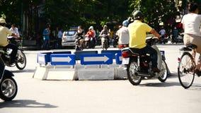 Hanoi Vietnam. Moped Traffic in Downtown Hanoi Daytime - Hanoi Vietnam stock footage