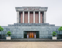 The Ho Chi Minh Mausoleum in centre of the Ba Dinh Square in Hanoi, Vietnam royalty free stock images