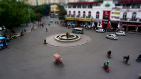 Hanoi, Vietnam - November 24, 2017: Time lapse view of street traffic in Hanoi. No Identifiable person can be seen in the scene stock video