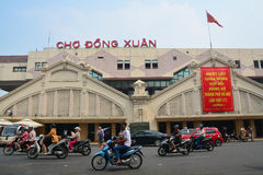 HANOI, VIETNAM - October 25, 2015: Dong Xuan market largest mark Royalty Free Stock Photos