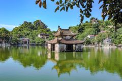 Thay pagoda in Hanoi, Vietnam. HANOI- VIETNAM: The pagoda named Thay is one of the most famous temples in Hanoi, Vietnam. This pagoda is recognized as a special Royalty Free Stock Photo