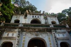 Hanoi Vietnam Quan Thanh Pagoda - Hanoi, Vietnam det är en berömd turist- destination i hanoi, Vietnam Arkivbild