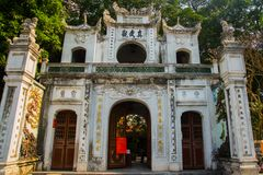 Hanoi vietnam Quan Thanh Pagoda - Hanoi, Vietnam.it's a famous tourist destination in hanoi, vietnam Royalty Free Stock Photography