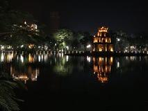 Hanoi Vietnam See-Nachttempel lizenzfreie stockfotografie