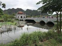 Hanoi Vietnam See-Schlossbrücke Asien lizenzfreies stockfoto