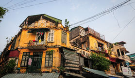Old houses at Old Town in Hanoi, Vietnam Royalty Free Stock Image