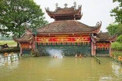 Hanoi, Vietnam - Sep 20, 2015: Common Vietnamese water puppetry state in Dao Thuc village.  Stock Photo