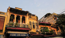 Old houses at Old Town in Hanoi, Vietnam Stock Images