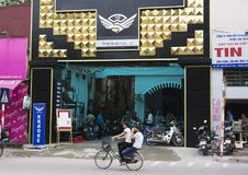 Hanoi, Vietnam - Sept 21, 2014: Front view of a karaoke club on Thanh Xuan st, Hanoi, Vietnam.  Stock Image
