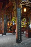 Quan Thanh Temple. Hanoi, Vietnam - 16th December 2017. The historic Quan Thanh Temple in the Ba Dinh district of Hanoi, Vietnam. The temple, also known as Tran Stock Image