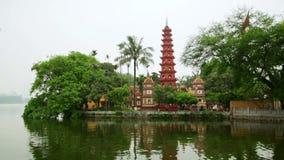 Hanoi,Vietnam,Tran Quoc Temple Pagoda. Day time stock footage