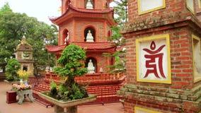 Hanoi,Vietnam,Tran Quoc Temple Pagoda. Day time stock video footage