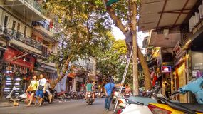 Hanoi, Vietnam. Typical street scene royalty free stock photography