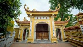 Hanoi, Vietname - 4 de dezembro de 2015: Pagode de Tran Quoc em Hanoi, Vietname Este pagode é ficado situado em uma ilha pequena  Imagem de Stock