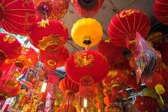 Hanoi, Vietname - 26 de janeiro de 2017: Lanternas do festival de Tet na rua de Hang Ma, quarto velho, Hanoi, Vietname Imagens de Stock