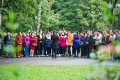 Hanoi, Vietname o 12 de março:: Os guias são informativos para viajantes a Foto de Stock Royalty Free