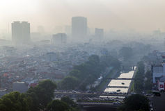 Hanoi view from the sky in morning Royalty Free Stock Images
