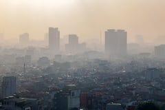 Hanoi widok od nieba w ranku Obraz Stock