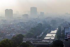 Hanoi widok od nieba w ranku Obrazy Royalty Free