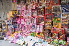 Hanoi Wietnam, Apr, - 5, 2015: Dziecko zabawki sklep w zrozumieniu Może ulica, Hanoi Zdjęcie Stock