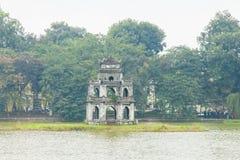 HANOI WIETNAM, GRUDZIEŃ, - 01: Widok Hoan Kiem jezioro na Dece Obrazy Royalty Free