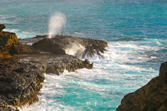 Hanole blowhole Stock Images